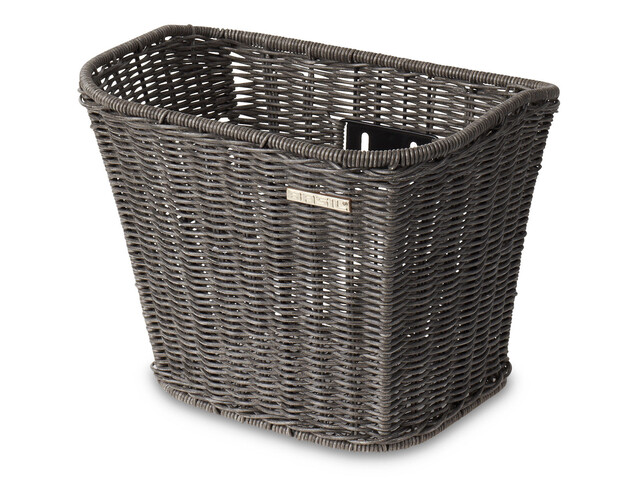 Basil Berlin Vorderrad-Korb Rattan Look nature grey